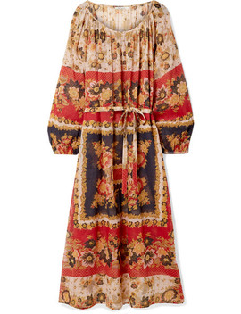 Matrioshka Printed Cotton Voile Midi Dress by Mes Demoiselles