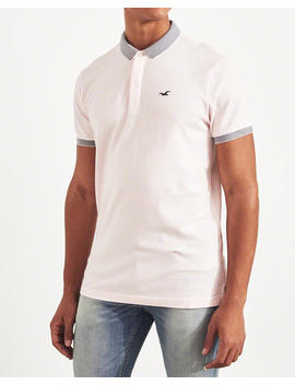 Tipped Shrunken Collar Polo by Hollister