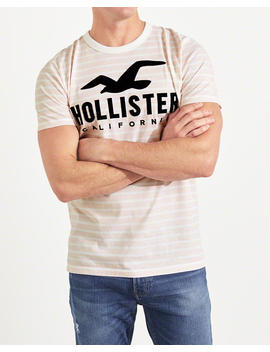 Stripe Logo Graphic Tee by Hollister