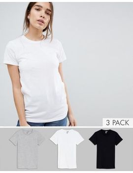 Asos Design Ultimate Crew Neck T Shirt 3 Pack Save 15 Percents by Asos Collection