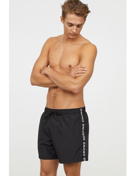 Swim Shorts With Side Stripes by H&M
