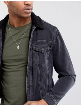 Burton Menswear Necklace With Pendant In Silver by Burton Menswear London