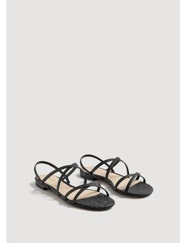 Sandália Tiras Metalizada by Mango