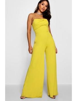 Nia Square Neck Wide Leg Jumpsuit by Boohoo