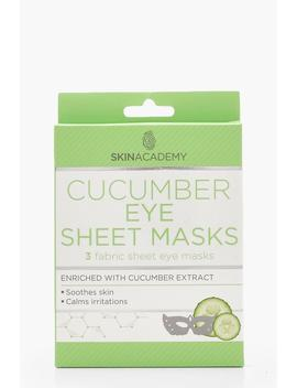 Cucumber Eye Sheet Masks X 3 by Boohoo