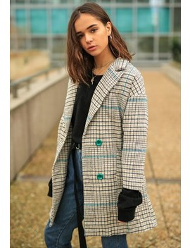 Boyfriend Plaid Coat by Poppy Lovers Fashion