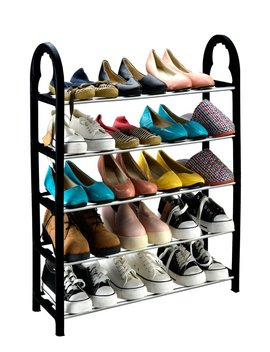 Keplin® 5 Tier 15 Pairs Shoe Stand Storage Organiser Rack Lightweight Compact by Amazon