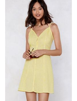 I'll Follow The Sun Gingham Dress by Nasty Gal