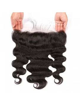Lace Frontal Brazilian Body Wave Virgin Human Hair Free Part Natural Color Bleached Knots by Dress Lily