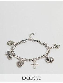 Reclaimed Vintage Inspired Silver Charm Bracelet Exclusive To Asos by Reclaimed Vintage