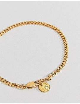 Mister Curb Chain Bracelet In Gold by Mister