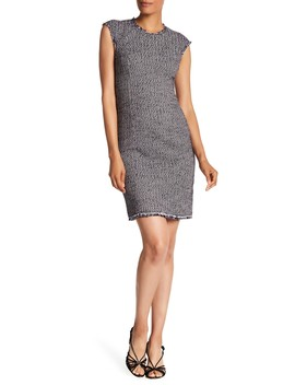 Short Sleeve Confetti Tweed Dress by Rebecca Taylor