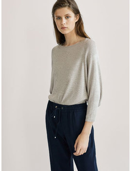 Cape Style Ribbed Sweater by Massimo Dutti