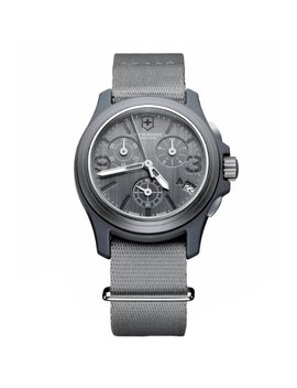 Victorinox Swiss Army Men's 241532 Original Chronograph Grey Nylon Strap Watch by Victorinox