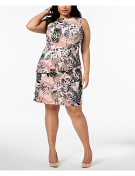 Plus Size Tiered Sheath Dress by Connected