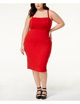 Trendy Plus Size Lace Up Bodycon Dress by Soprano
