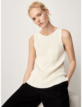 Textured Weave Top by Massimo Dutti