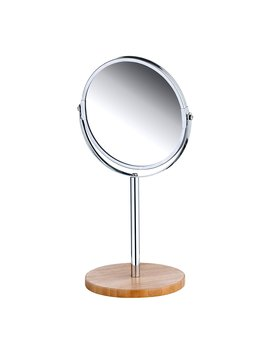 Dressing Table Mirror Vanity Mirror Table Top Mirror 17 Cm Round With Bamboo Base by Amazon