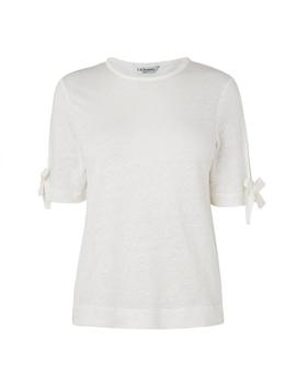 Chloee White Linen Top by L.K.Bennett