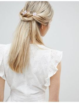 Asos Design Pastel Flower Station Back Hair Clip by Asos Design