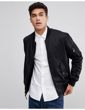 Polo Ralph Lauren Nylon Bomber In Black by Polo Ralph Lauren