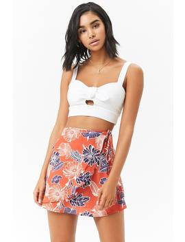 Tropical Wrap Mini Skirt by Forever 21