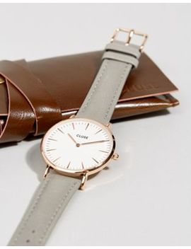 Cluse La Boheme Rose Gold & Gray Leather Watch Cl18015 by Watch