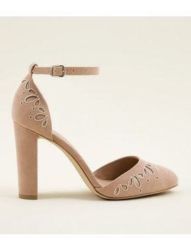 Wide Fit Nude Suedette Cut Out Two Part Courts by New Look