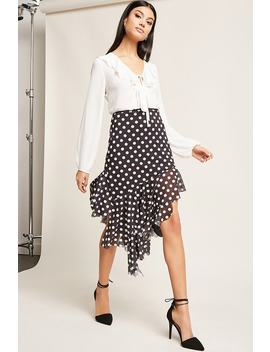 Polka Dot High Low Skirt by Forever 21