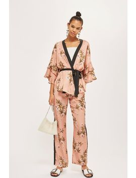 Printed Wide Leg Trousers by Topshop