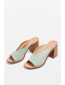 V Cut Back Mules by Topshop