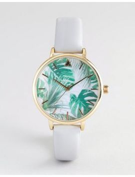 Asos Design Palm Print Watch by Asos Design