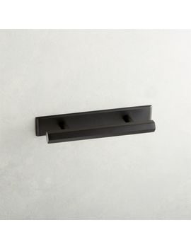 "3"" Hex Matte Black Handle With Backplate by Crate&Barrel"
