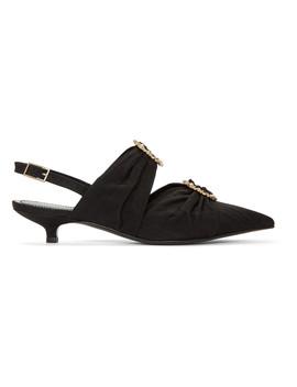 Black Chelsea Slingback Heels by Erdem