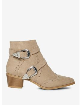 Mink 'Alicia' Ankle Boots by Dorothy Perkins