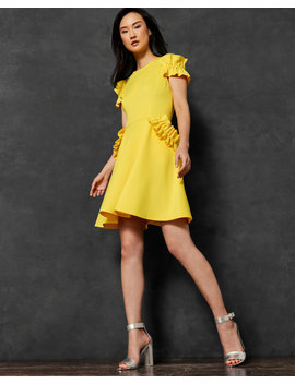 Ruffle Detail Dress by Ted Baker