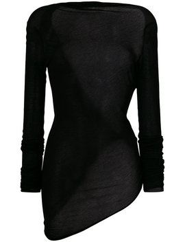 Asymmetric Hem Sheer Tophome Women Clothing Knitted Tops by Rick Owens Lilies