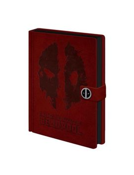 Deadpool Notebook Splat Logo New Official Marvel Red Premium A5 by Ebay Seller