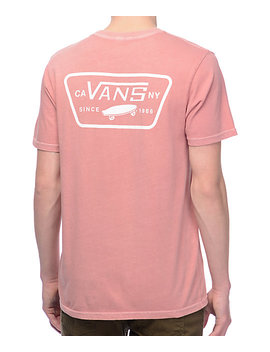 Vans Full Patch Rose &Amp; White Pigment T Shirt by Vans
