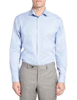 Trim Fit Non Iron Stretch Dress Shirt by Calibrate
