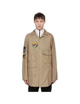 Beige Malvel Patch Jacket by Acne Studios