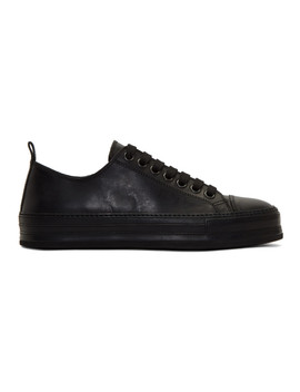 Black Leather Sneakers by Ann Demeulemeester