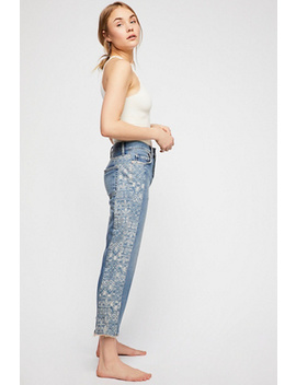 Side Stripe Boyfriend Jeans by Free People
