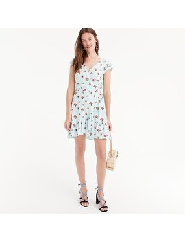 J.Crew Mercantile Faux Wrap Mini Dress In Roses Print by J.Crew