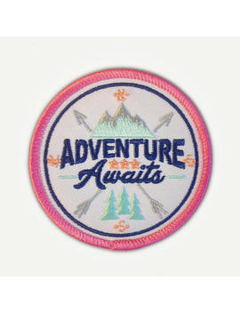 "Quality Pastel Adventure Awaits Iron On Patch   2.78"" Round   Iron On Or Sew On Patch Appliqué by Etsy"