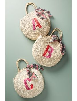 Fourre Tout En Paille à Monogramme by Anthropologie