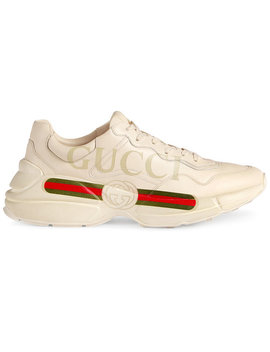 Rhyton Fake Logo Leather Sneakershome Men Shoes Trainers by Gucci