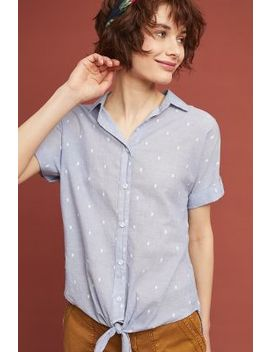 cloth-&-stone-clip-dot-buttondown by cloth-&-stone