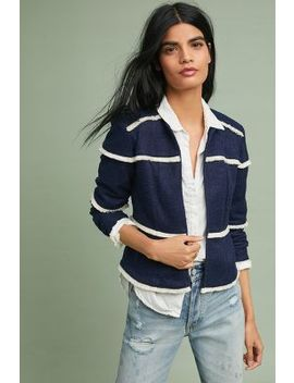 Fringed Grid Jacket by Dolan Left Coast