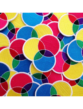 Cmyk Embroidered Iron On Patch   Cmyk Patch by Etsy
